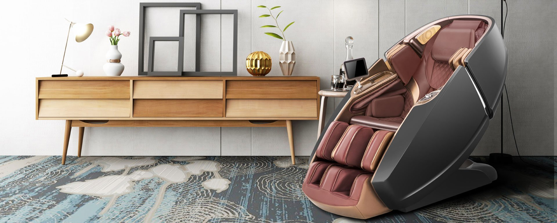 Zenith Massage Chair in a room next a table
