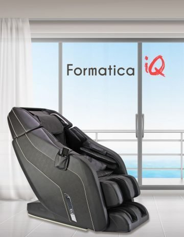 Black Formatica iQ Massage Chair in white room